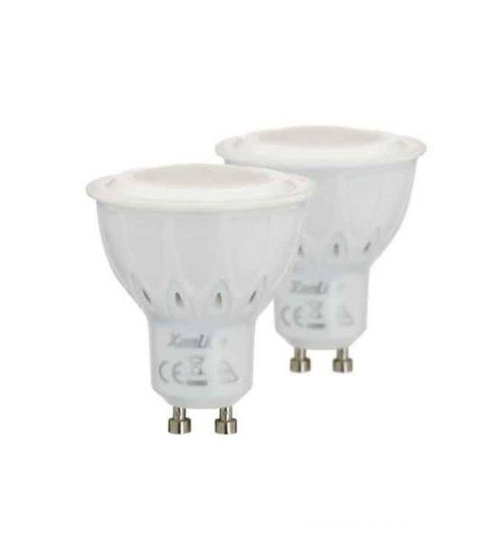 LOT DE 2 Ampoule LED GU10 SMD 5.5W 420Lm (équiv 50W) Blanc neutre 100° XANLITE - GU10 - siageo-led.com