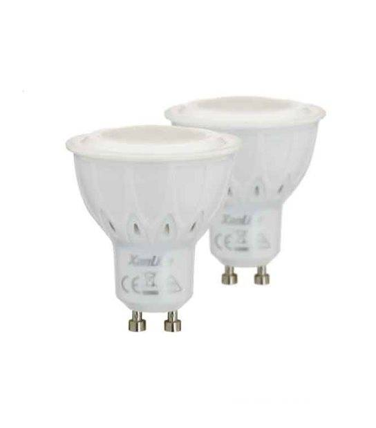 LOT DE 2 Ampoule LED GU10 Dimmable SMD 5.5W 420Lm (équiv 50W) Blanc neutre 60° XANLITE - GU10 - siageo-led.com