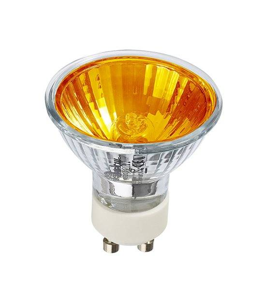 Ampoule ECO Halogène GU10 28W équiv 35W Orange 36° HIPOW - CYBER WEEK - siageo-led.com