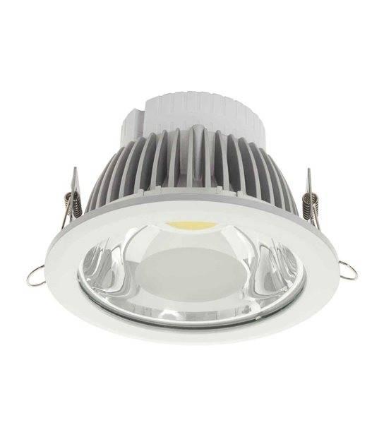 Downlight PENY Blanc Rond LED MCOB intégrés IP20 18W Blanc Neutre KANLUX - CYBER WEEK - siageo-led.com