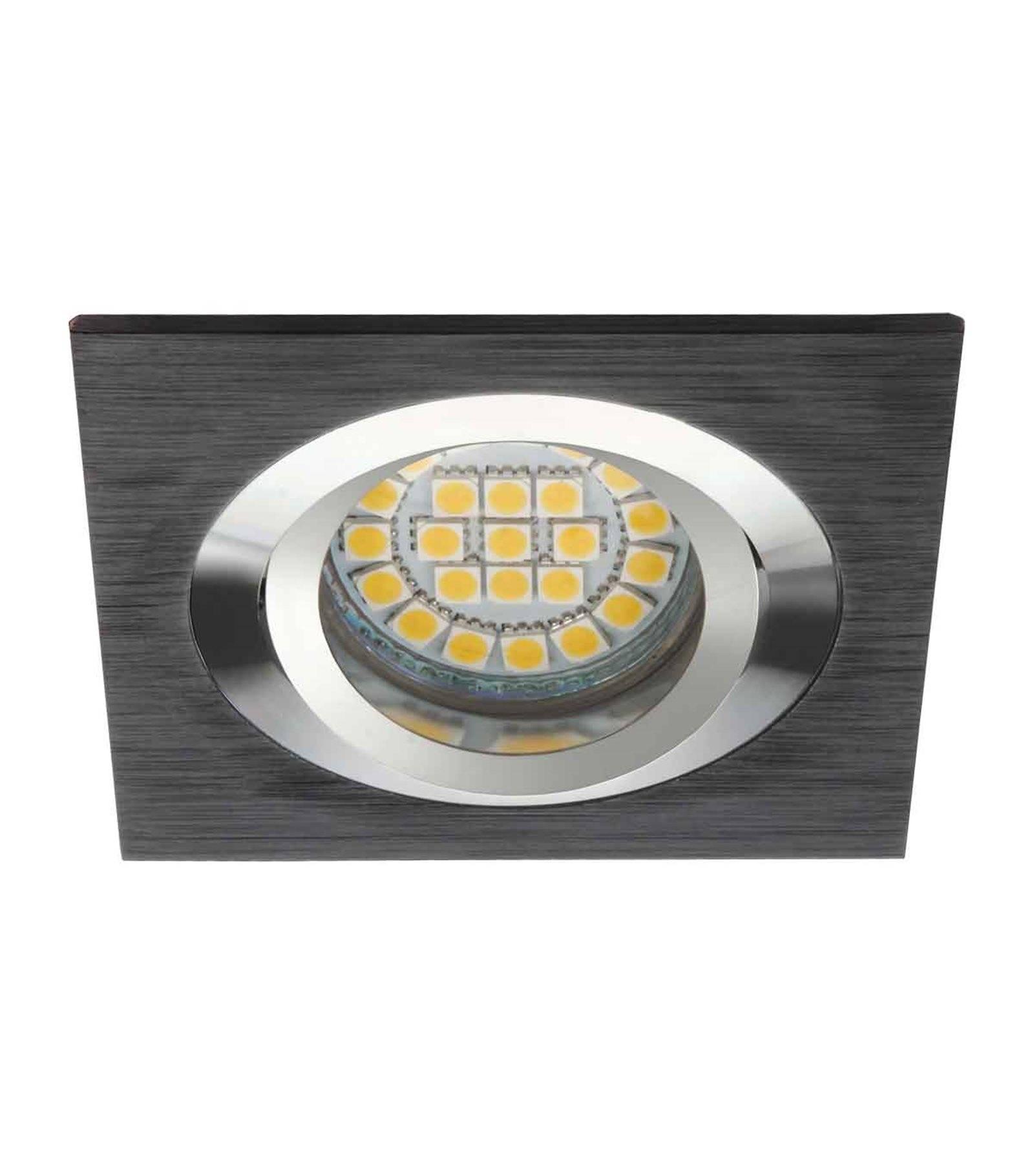 spot encastrable seidy aluminium bross noir carr gu5 3 gu10 ip20 orientable 30 kanlux. Black Bedroom Furniture Sets. Home Design Ideas