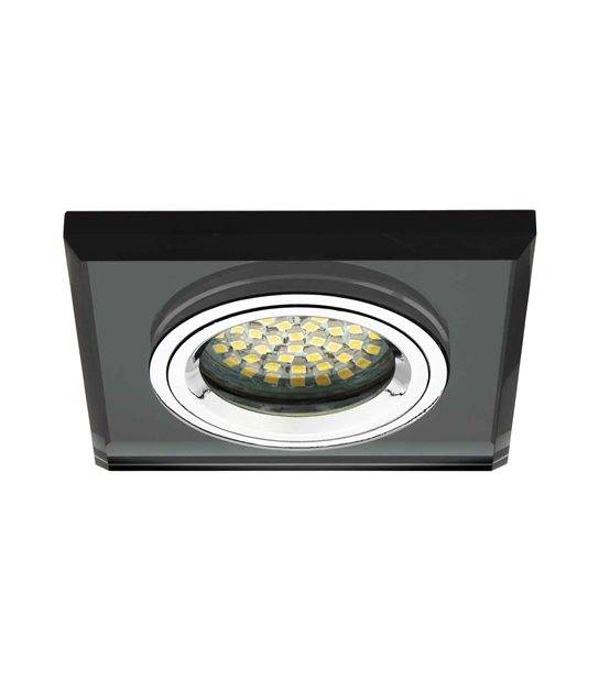 Spot Encastrable MORTA Noir Carré GU5.3/GU10 IP20 KANLUX - 18510 - ENCASTRABLE - siageo-led.com