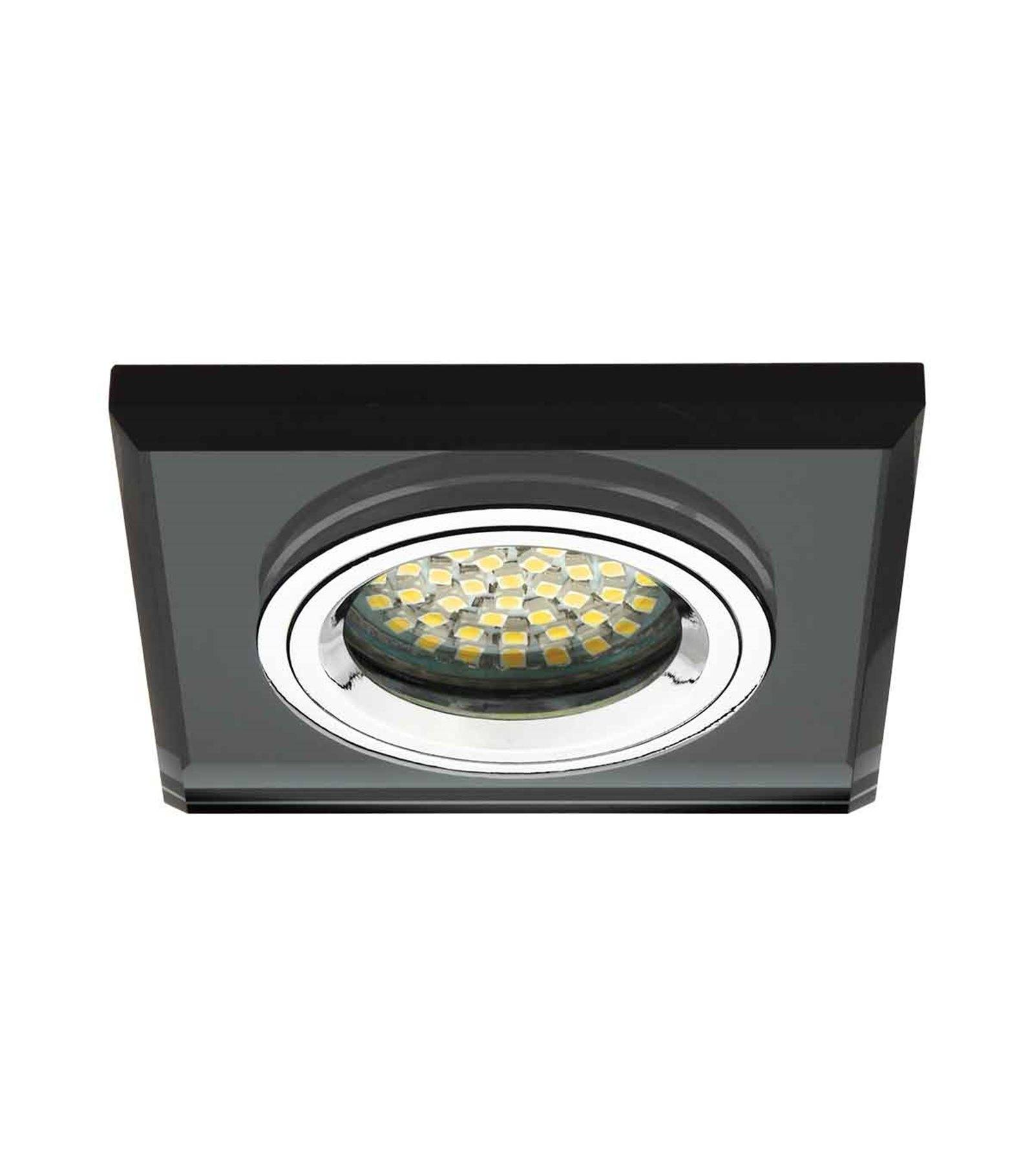 spot encastrable plafonnier morta noir carr gu5 3 gu10. Black Bedroom Furniture Sets. Home Design Ideas