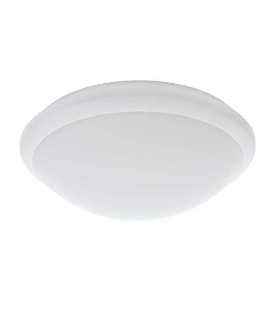 plafonnier luminaire avec d tecteur de mouvement daba blanc rond led smd int gr ip44 17w blanc. Black Bedroom Furniture Sets. Home Design Ideas