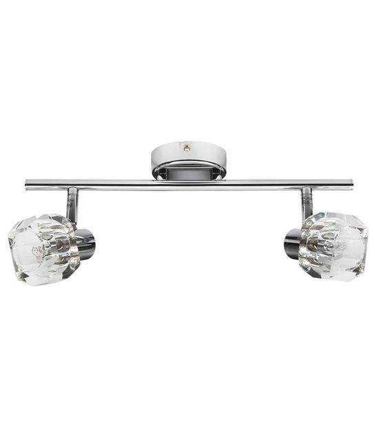 Plafonnier luminaire GLASO Chrome Rond 2 spots G9 IP20 Orientable KANLUX - CYBER WEEK - siageo-led.com