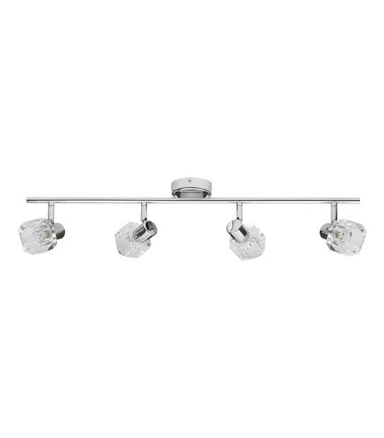 Plafonnier luminaire GLASO Chrome Rond 4 spots G9 IP20 Orientable KANLUX - 19643 - PLAFONNIER SPOT LED - siageo-led.com