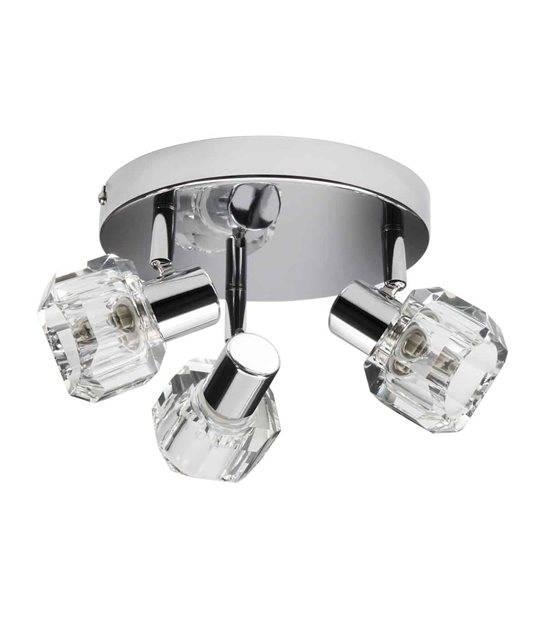 Plafonnier luminaire GLASO Chrome Rond 3 spots G9 IP20 Orientable KANLUX - CYBER WEEK - siageo-led.com
