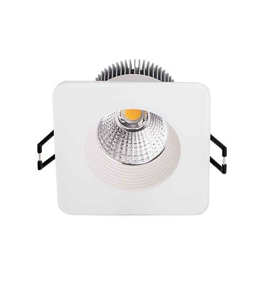 Downlight QUELLA Blanc Carré LED COB intégrés IP20 8,5W Blanc Chaud KANLUX - 19916 - CYBER WEEK - siageo-led.com