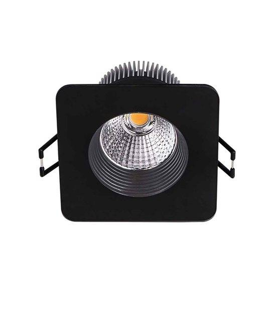 Downlight QUELLA Noir Carré LED COB intégrés IP20 8,5W Blanc Chaud KANLUX - 19917 - CYBER WEEK - siageo-led.com