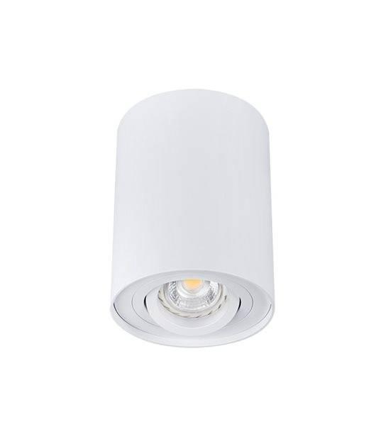 Plafonnier luminaire BORD Blanc Cylindrique GU10 IP20 Orientable 25° KANLUX - 22551 - PLAFONNIER SPOT LED - siageo-led.com