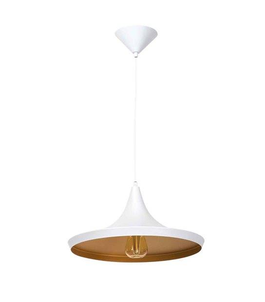Plafonnier luminaire suspension AVINI Blanc Rond E27 IP20 KANLUX - 24300 - CYBER WEEK - siageo-led.com