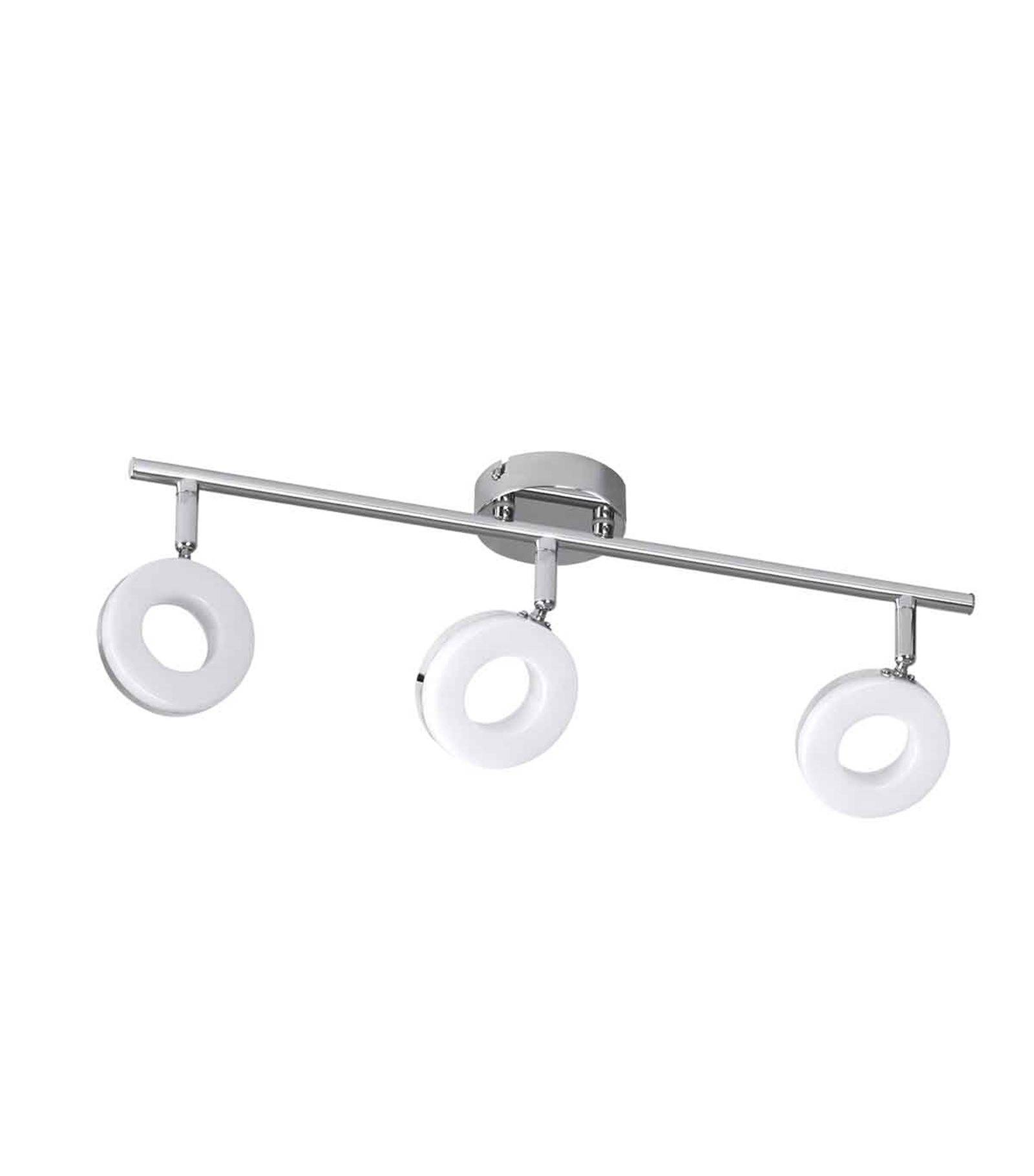plafonnier luminaire garna chrome rond 3 spots led int gr ip20 3x5ww blanc chaud orientable. Black Bedroom Furniture Sets. Home Design Ideas