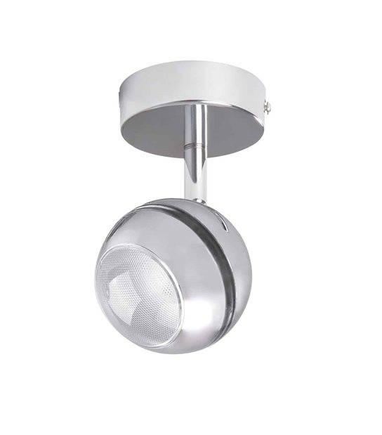 Plafonnier luminaire RANVI Chrome Rond LED SMD intégré IP20 5W Blanc Chaud Orientable KANLUX - 24430 - CYBER WEEK - siageo-led.com