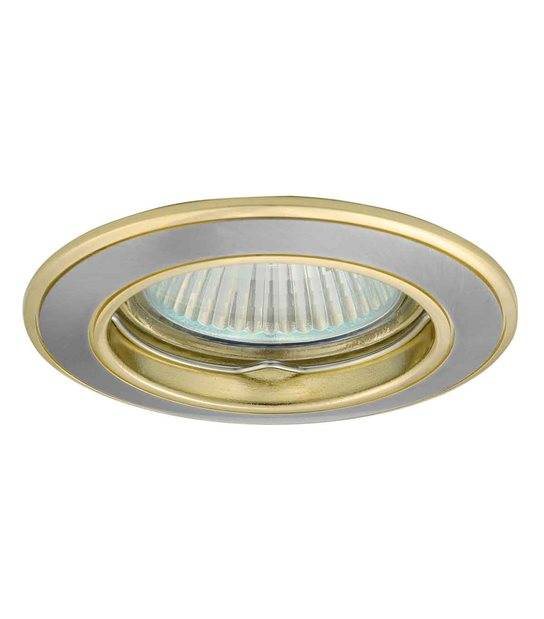 Spot Encastrable bi-finition MILANO Nickel satiné Rond GU5.3/GU10 IP20 KANLUX - 2813 - CYBER WEEK - siageo-led.com