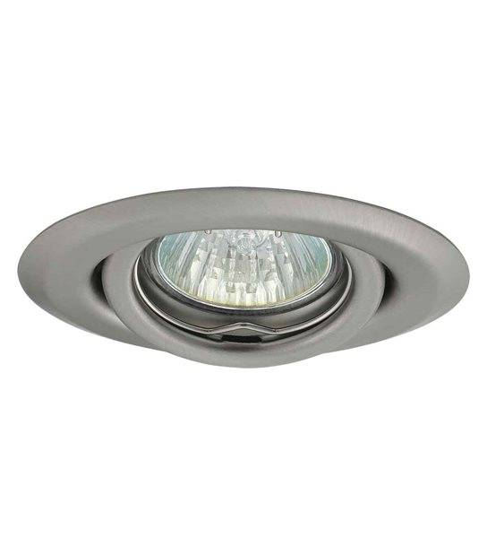 Spot Encastrable ULKE Chrome Mat Rond GU4 MR11 IP20 Orientable 15° KANLUX - 349 - ORIENTABLE - siageo-led.com