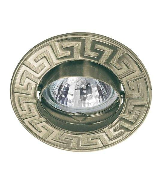 Spot Encastrable RODOS Laiton antique Rond GU5.3/GU10 IP20 Orientable 30° KANLUX - 4688 - CYBER WEEK - siageo-led.com