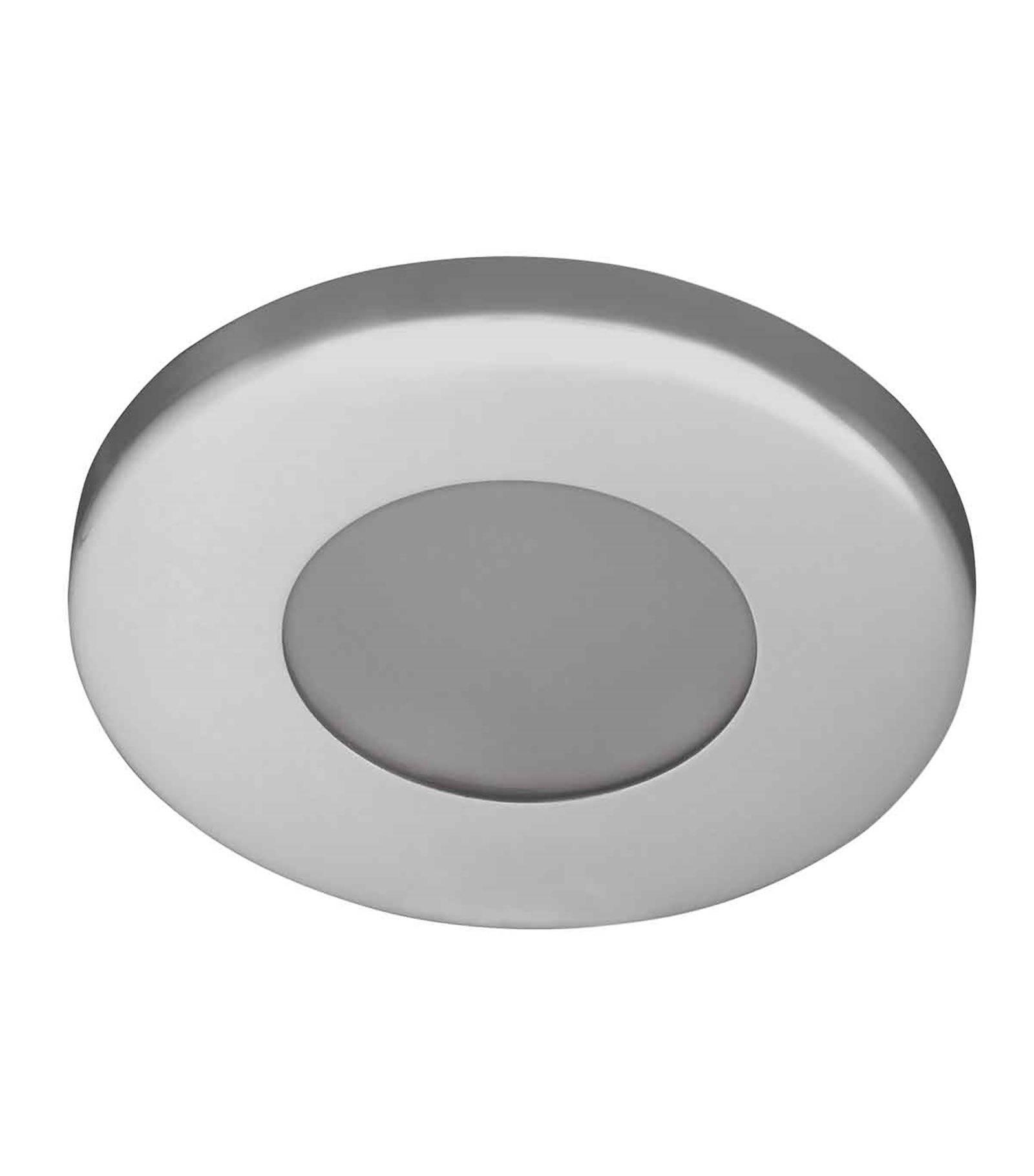 Spot encastrable salle de bain marin chrome rond gu5 3 - Spot salle de bain ip44 ...