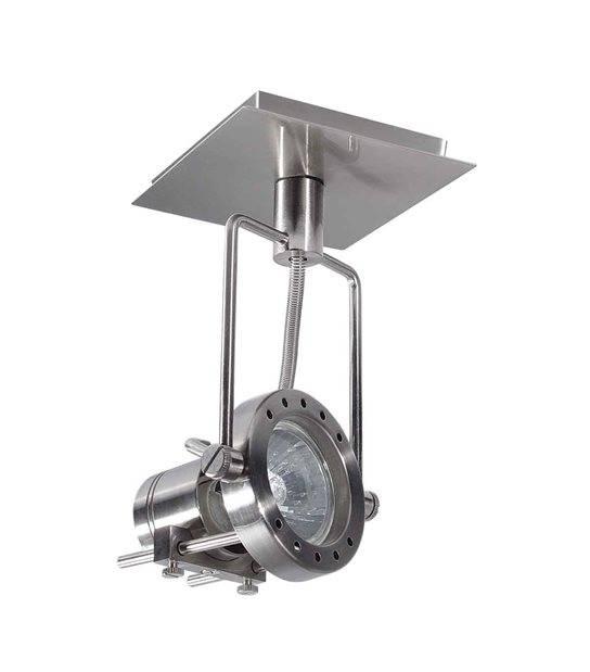 Plafonnier luminaire SONDA Chrome satiné Rond GU10 IP20 Orientable KANLUX - 4795 - PLAFONNIER SPOT LED - siageo-led.com