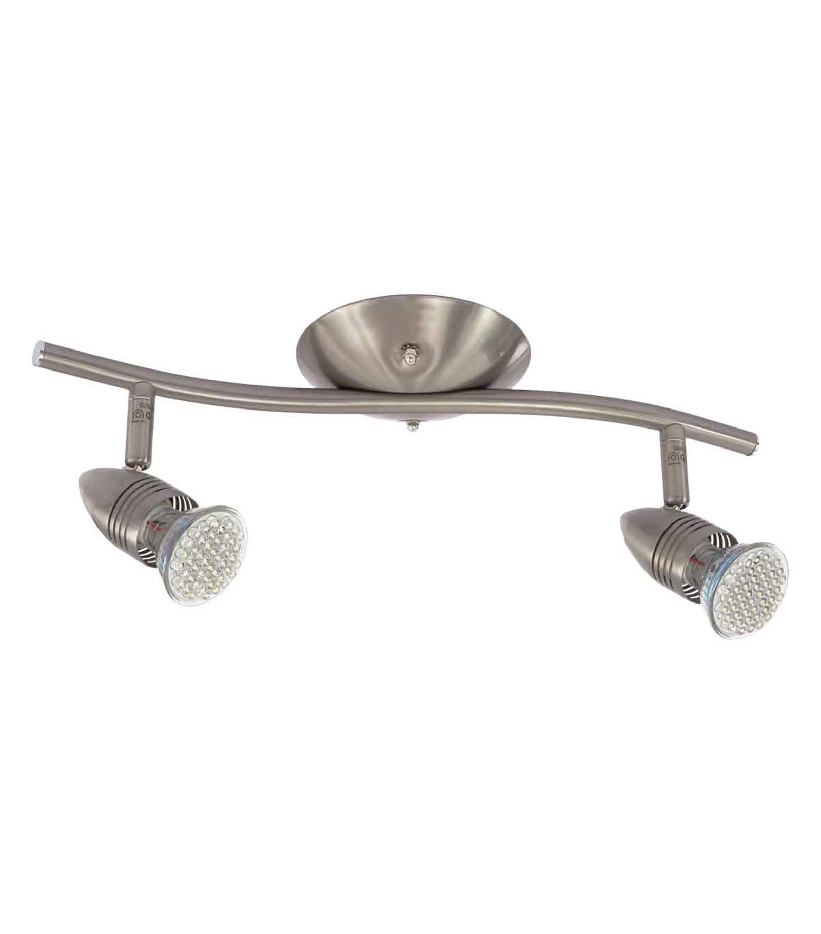 plafonnier luminaire moli chrome satin rond 2 spots gu10 ip20 orientable kanlux plafonnier. Black Bedroom Furniture Sets. Home Design Ideas