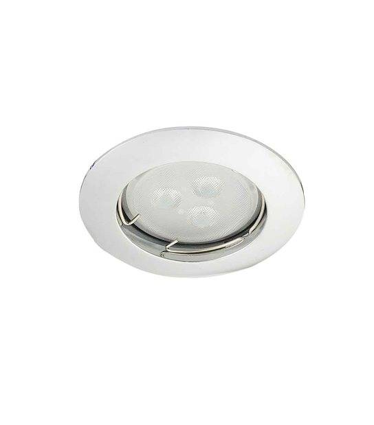 Spot encastrable avec douille raccord protégé ZAMAK Chrome Rond GU5.3 MR16 IP20 HIPOW - CYBER WEEK - siageo-led.com