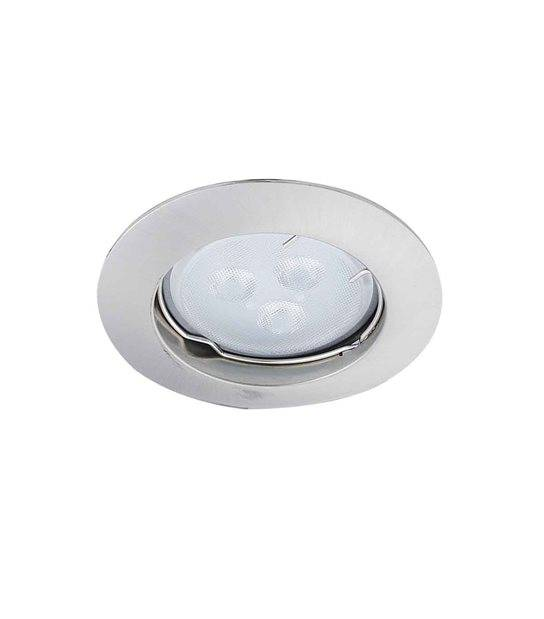 Spot encastrable avec douille raccord protégé ZAMAK Chrome Mat Rond GU5.3 MR16 IP20 HIPOW - CYBER WEEK - siageo-led.com