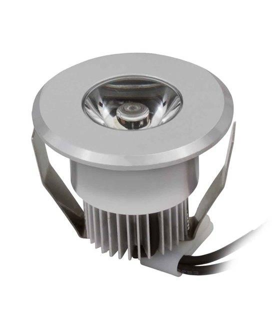 Spot encastrable HAXA Argent Rond LED intégré IP20 1W Blanc Chaud KANLUX - 8100 - CYBER WEEK - siageo-led.com