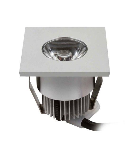 Spot encastrable HAXA Argent Carré LED intégré IP20 1W Blanc Chaud KANLUX - CYBER WEEK - siageo-led.com