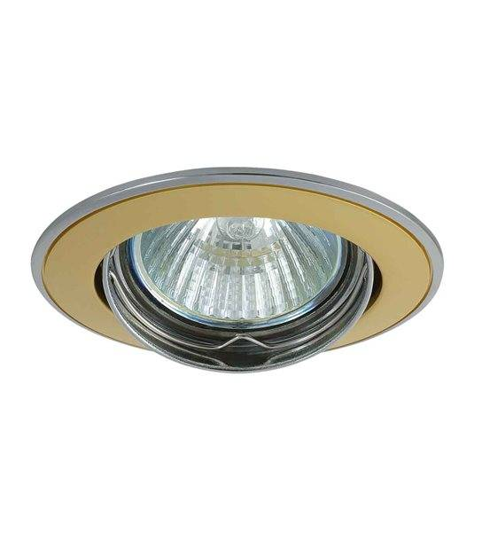 Spot Encastrable bi-finition MILANO Or Rond GU5.3/GU10 IP20 Orientable 30° KANLUX - 2805 - ORIENTABLE - siageo-led.com