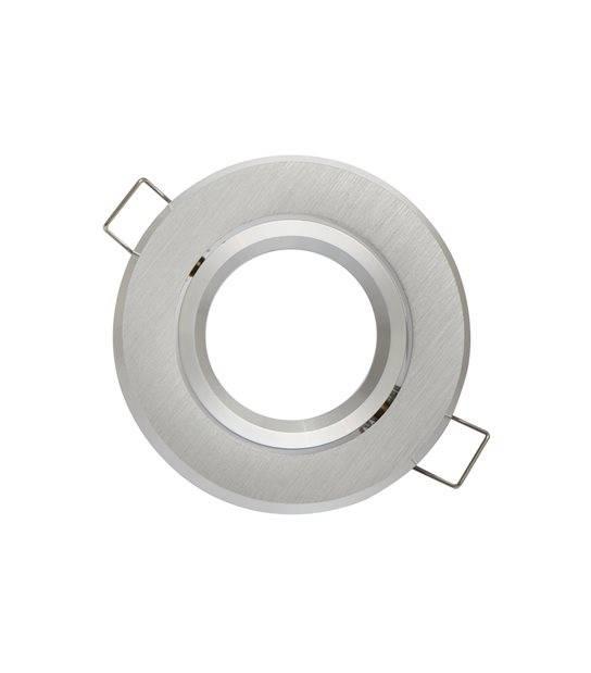 Spot encastrable Argent brossé Rond GU5.3 MR16 IP20 W Orientable 45° LED LINE - 244810 - ORIENTABLE - siageo-led.com
