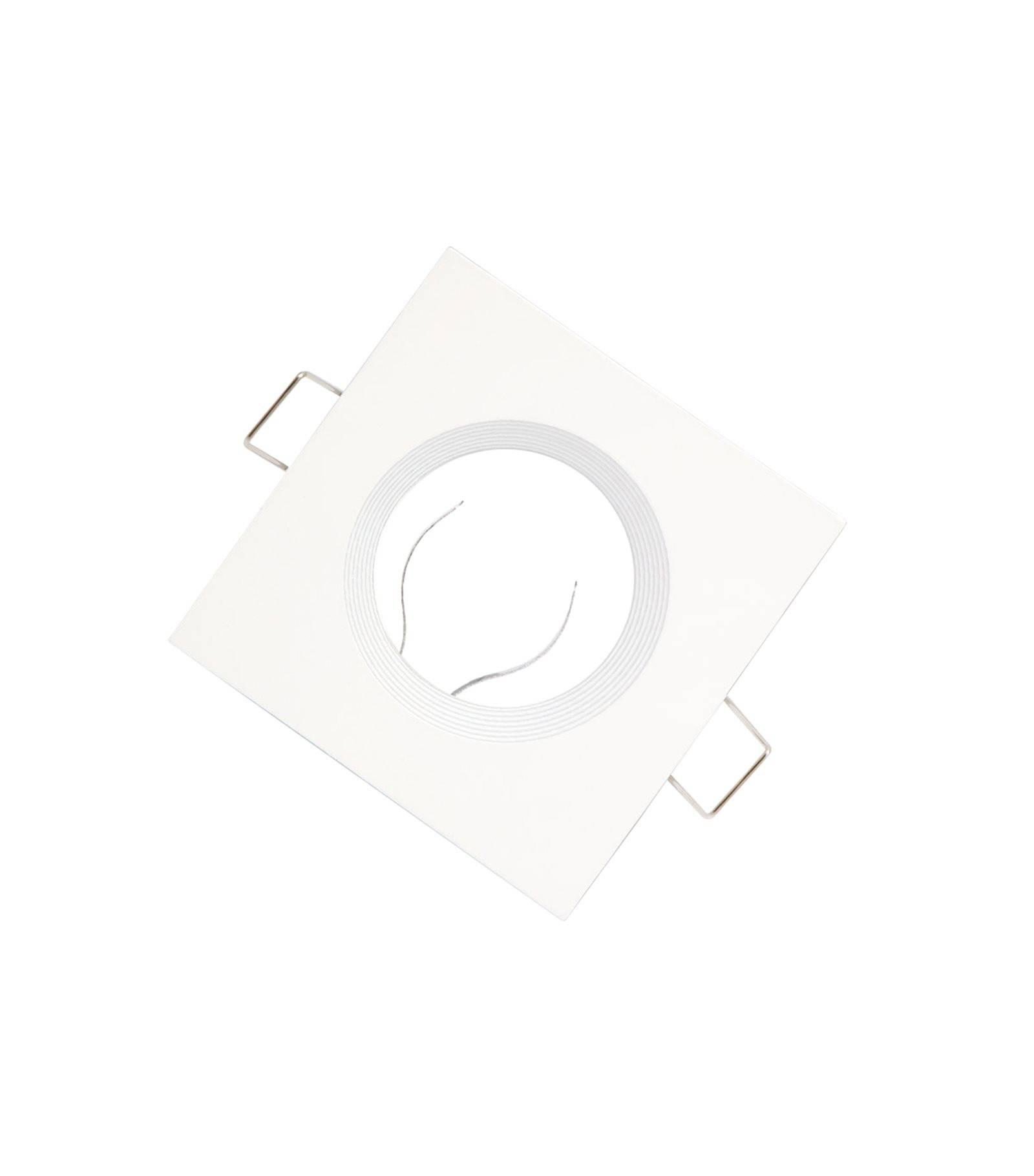 Feu coté Chrome Brossé IP20 plafond Encastrés GU10 twist and lock