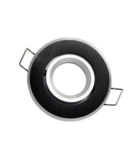 Spot encastrable Noir brossé Rond GU4 MR11 IP20 W Orientable 45° LED LINE - 244872 - ORIENTABLE - siageo-led.com