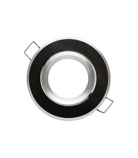 Spot encastrable Noir brossé Rond GU5.3 MR16 IP20 W Orientable 45° LED LINE - 244902 - ORIENTABLE - siageo-led.com