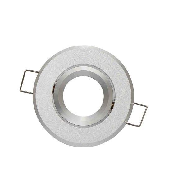 Spot encastrable Argent brossé Rond GU4 MR11 IP20 W Orientable 45° LED LINE - 245121 - CYBER WEEK - siageo-led.com