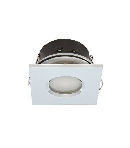 Spot Encastrable salle de bain Chrome Carré GU5.3 MR16 IP44 W LED LINE - 245381 - ETANCHE SALLE DE BAIN - siageo-led.com