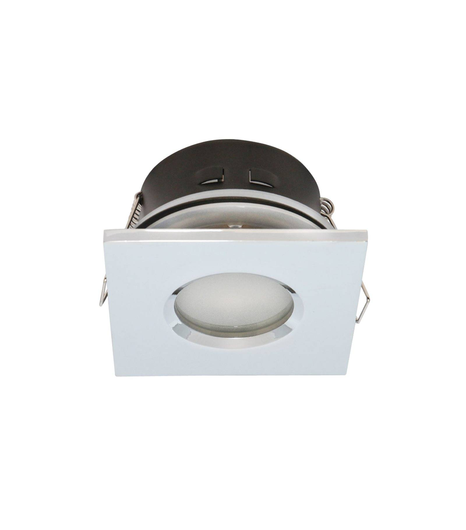 Spot encastrable salle de bain chrome carr gu5 3 mr16 - Spot led encastrable salle de bain ip65 etanche ...
