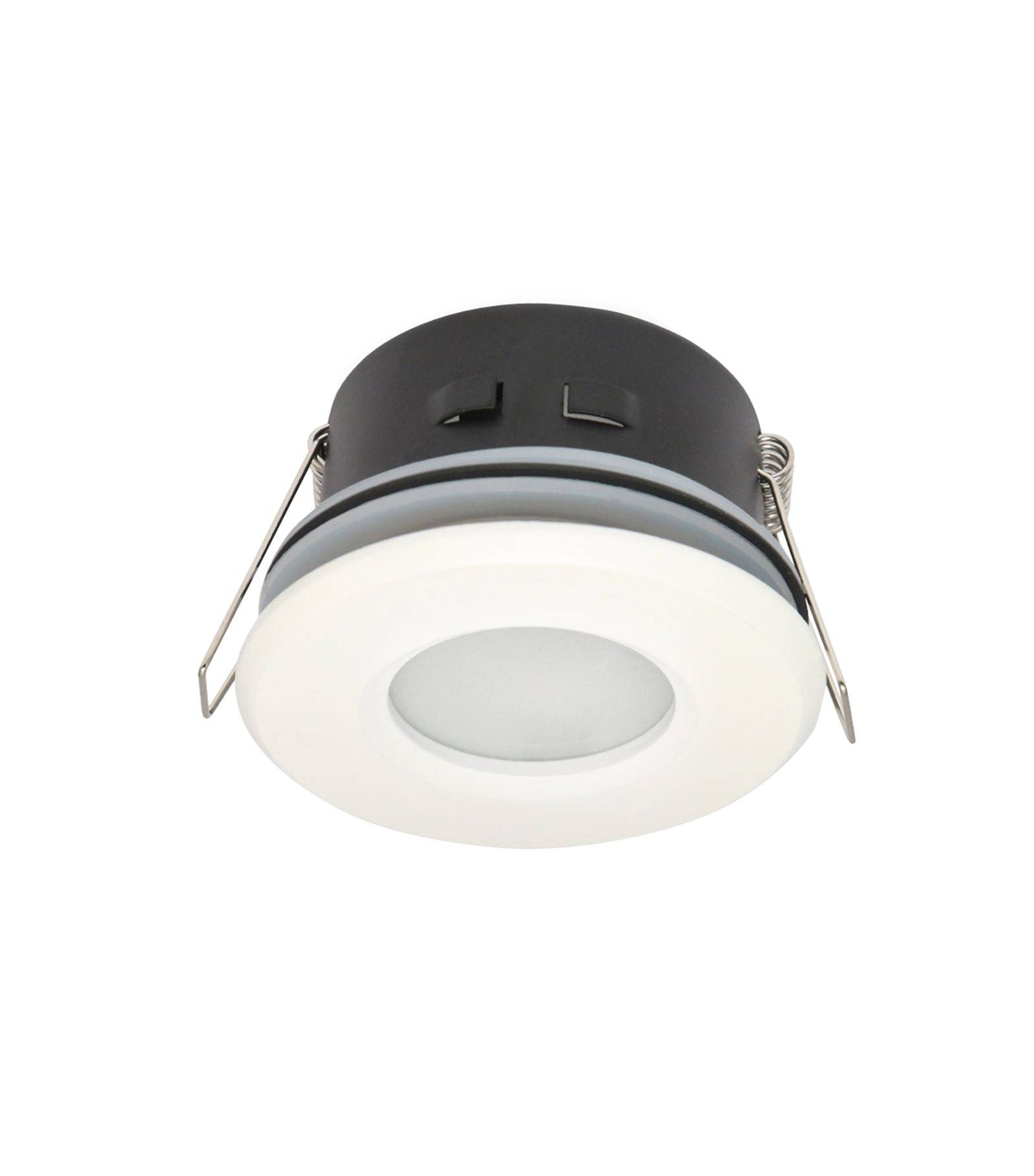 Spot encastrable salle de bain blanc rond gu5 3 mr16 ip65 for Spot led ip65 salle bain