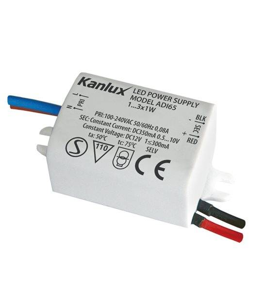 Transformateur électronique LED 3x1W 100-240V à 12V DC IP20 ADI KANLUX - 1440 - CYBER WEEK - siageo-led.com