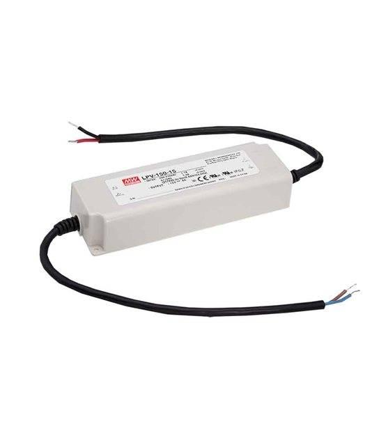 Transformateur LED 150W 90-264V à 12V DC étanche IP67 LPV-150-12 MEAN WELL - LPV-150-12 - CYBER WEEK - siageo-led.com
