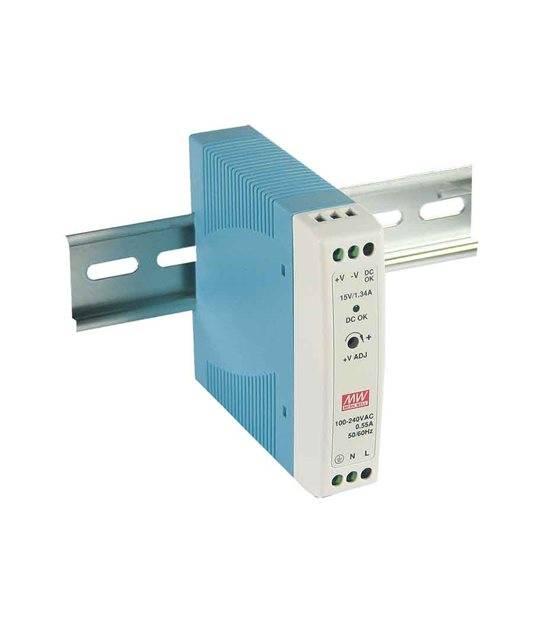Transformateur pour rail DIN armoire électrique 20Wà 12V DC MDR-20-12 MEAN WELL - MDR-20-12 - CYBER WEEK - siageo-led.com
