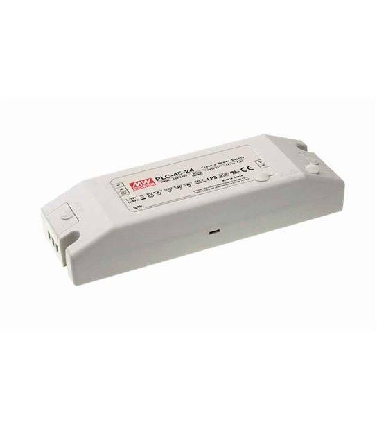 Transformateur LED Design plat 45W 90-264V à 12V DC IP20 PLC-45-12 MEAN WELL - PLC-45-12 - CYBER WEEK - siageo-led.com