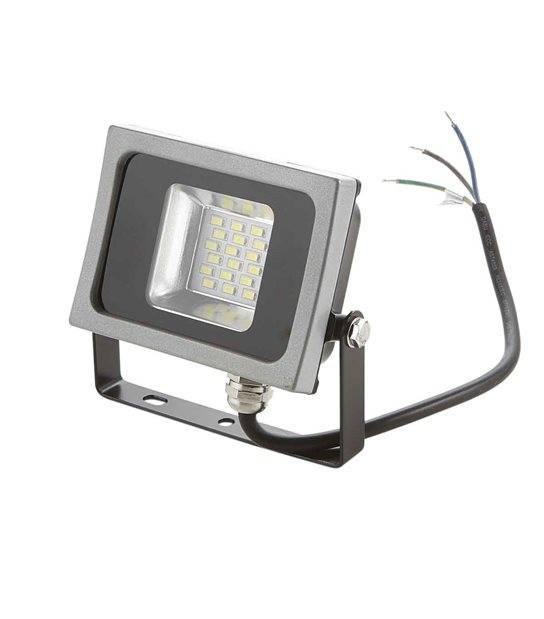 Projecteur LED SMD corp noir design plat 10W équiv 50W IP65 Blanc neutre extérieur V-TAC - 5721 - PROJECTEUR MURAL - siageo-led.com