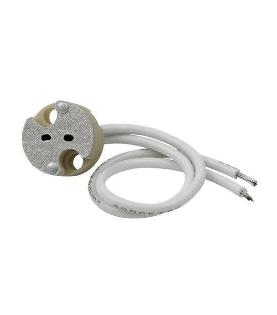 Douille céramique GU5.3 (Pour Utilisation d'une Ampoule 12v) pour lampes et ampoules - 72109 - DOUILLE & ADAPTATEUR - siageo-led.com