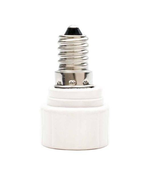 Douille adaptateur de E14 vers GU10 en céramique pour lampes et ampoules - 8851 - DOUILLE & ADAPTATEUR - siageo-led.com