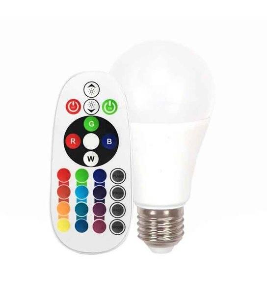 Ampoule Led E27 à led RGB avec télécommande 6W rendu 40W par V-Tac ref 712 - 7121 - TÉLÉCOMMANDÉ - siageo-led.com