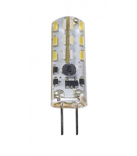 Ampoule LED G4 à 24 SMD 1.3W 90Lm (équiv 10W) Blanc Chaud 360° 12V HIPOW - AMPOULE G4 - siageo-led.com