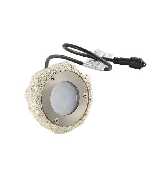 Spot projecteur Cailloux Sable Luminaire STONE GU10 MR16 IP67 extérieur EASY CONNECT ampoule fournie - PROJECTEUR JARDIN - siageo-led.com