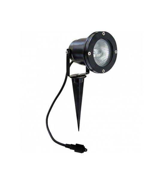 STOP-Spot projecteur à Piquer ou visser Noir AVANT-GARDE GU10 MR20 IP65 extérieur EASY CONNECT ampoule fournie - PROJECTEUR JARDIN - siageo-led.com