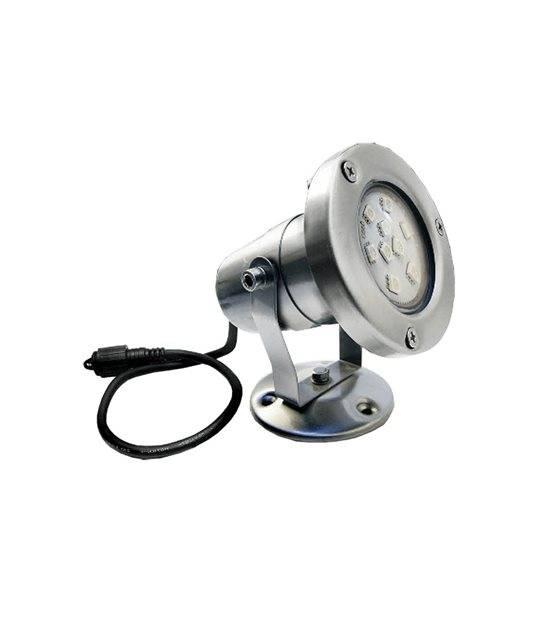 Spot projecteur Inox GU10 MR16 ou MR20 IP67 Orientable extérieur EASY CONNECT ampoule fournie - PROJECTEUR JARDIN - siageo-led.com