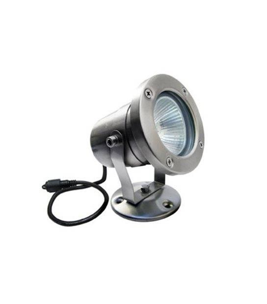 Spot projecteur Inox Focus 63mm GU10 MR16 ou MR20 IP67 Orientable extérieur EASY CONNECT ampoule fournie - PROJECTEUR JARDIN - siageo-led.com