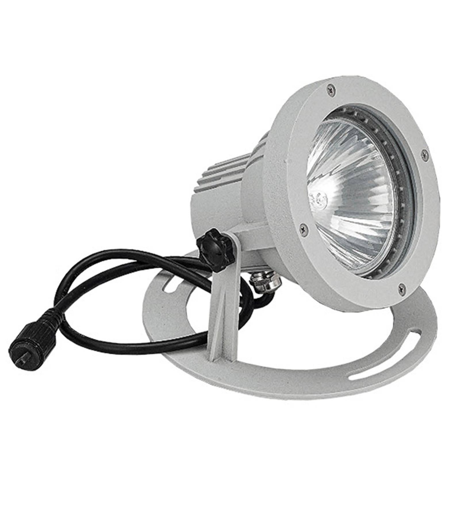 spot projecteur alu bross gu10 mr16 ou mr20 ip67 ext rieur easy connect ampoule fournie. Black Bedroom Furniture Sets. Home Design Ideas
